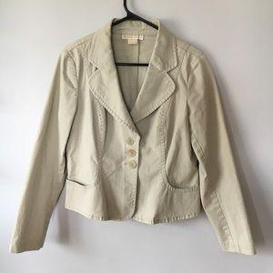 MICHAEL Michael Kors Cream Blazer Jacket Women's L